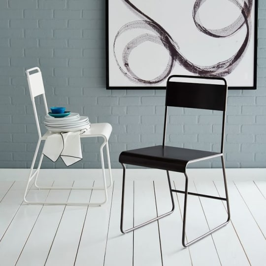 Bent Metal Dining Chair
