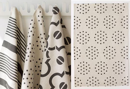Blanc + Noir Linen Tea Towels by Studiopatró