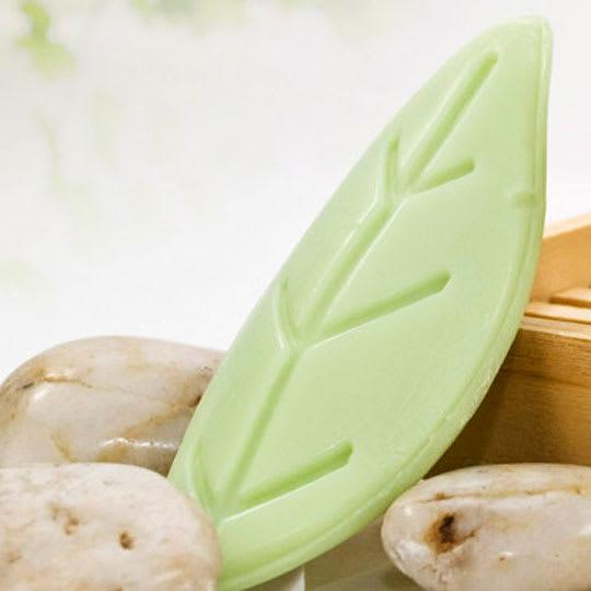 Leaf Shaped White Tea Aloe Soap