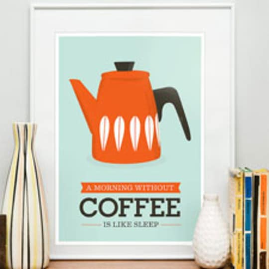A Morning Without Coffee Print from ReStyleshop