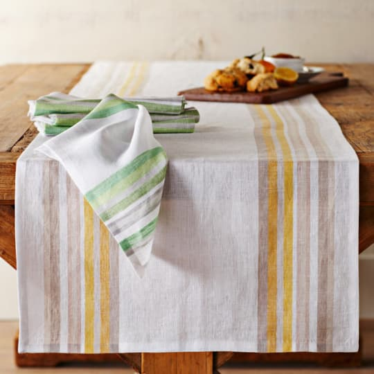 Yarn Dyed Multi Stripe Table Runner from Williams-Sonoma