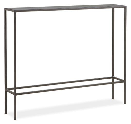 Slim Console Table in Steel