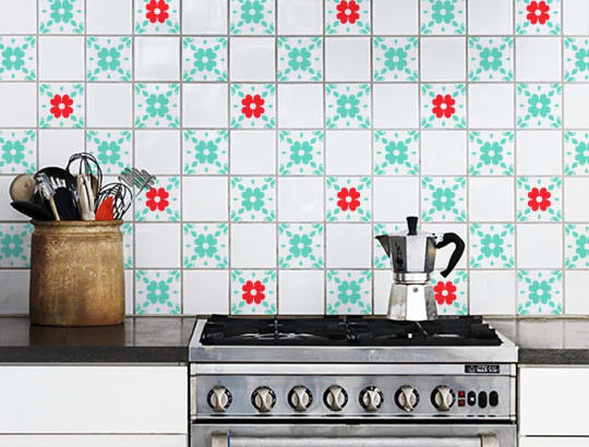 Floral Tile Pattern Decals from Dana Decals