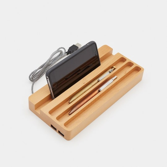 Wood Charging Station by Cool Material