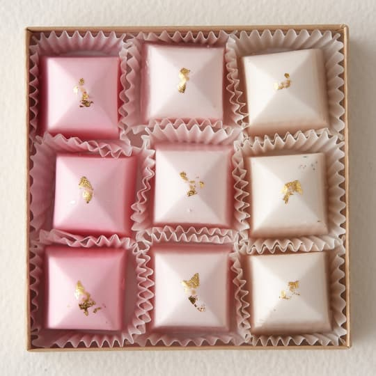 Pink & Gold Chocolates