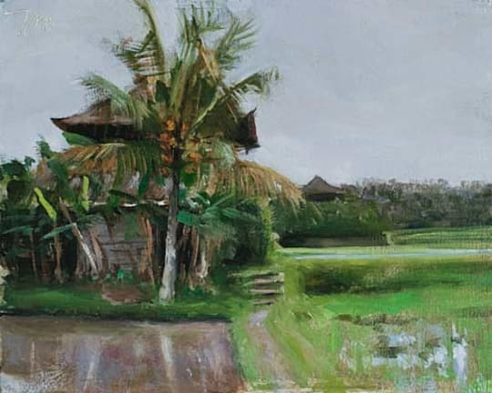 Track through rice paddies, Penestanan by Julian Merrow-Smith