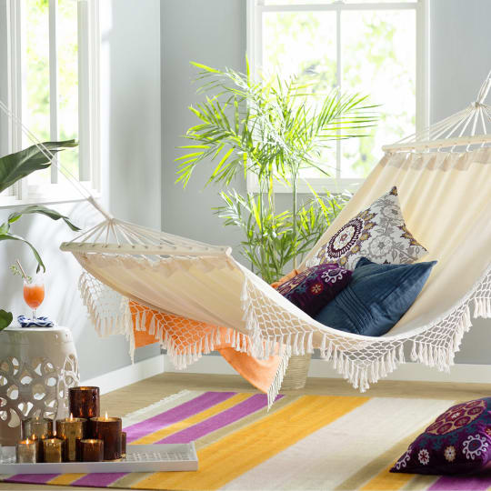 Douane Fringed Cotton Tree Hammock by Bungalow Rose
