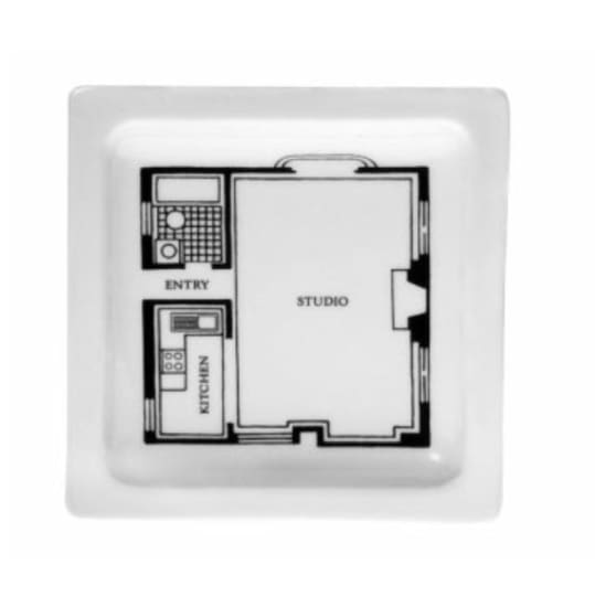 Floor Plan Studio Square Plate from Fishs Eddy