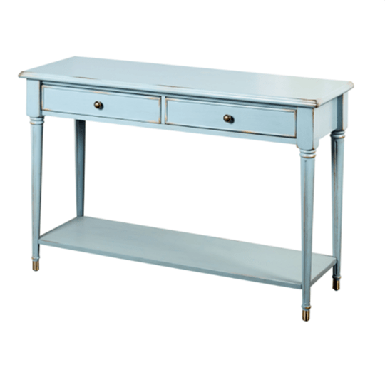 Simple Living Emilia Blue Wood/MDF Sofa Table at Overstock