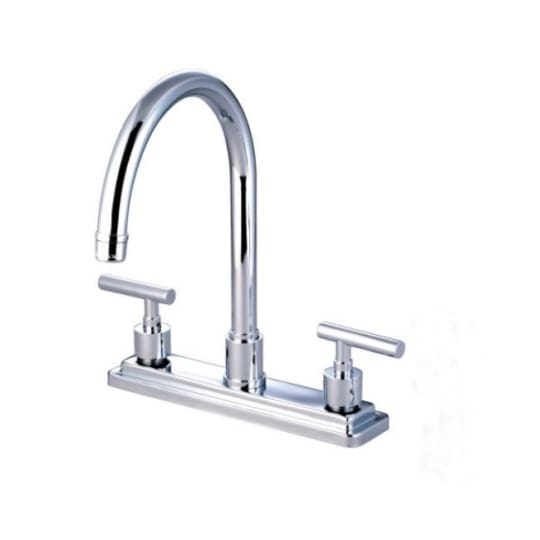 Kingston Brass Manhattan Double Handle Kitchen Faucet