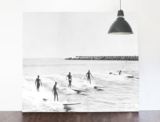 """Vintage Illustration of Surfers 144"""" x 92"""" from Anewall Decor"""