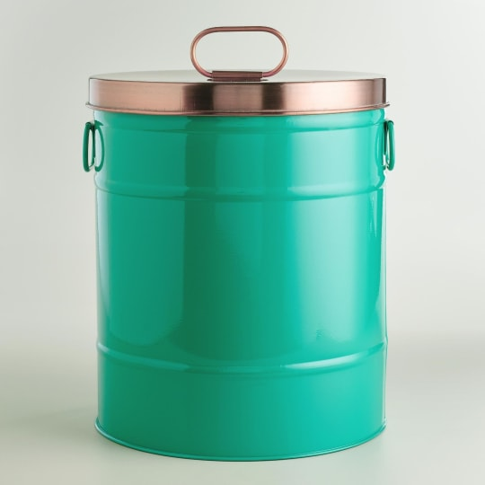 Lagoon Blue Pet Food Storage Container with Scoop from World Market