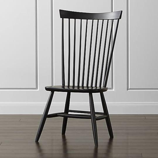 Crate & Barrel Marlow II Black Wood Dining Chair