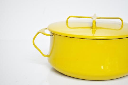 Vintage Dansk Kobenstyle Pot in Mustard Yellow