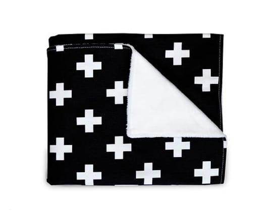 Olli & Lime Black Cross Blanket