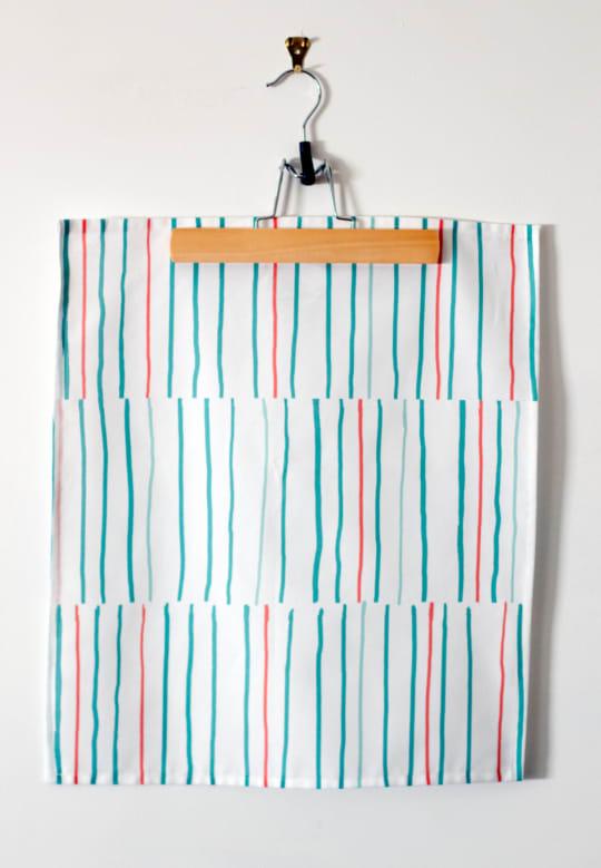 Summer Stripe Cotton Tea Towel from Jennifer Lesley Design