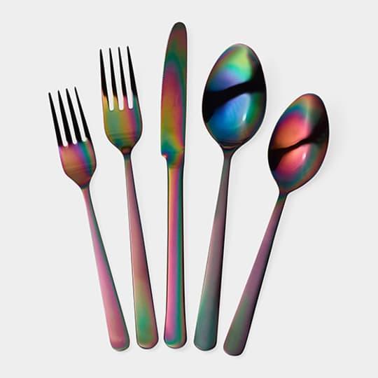 Rainbow Flatware