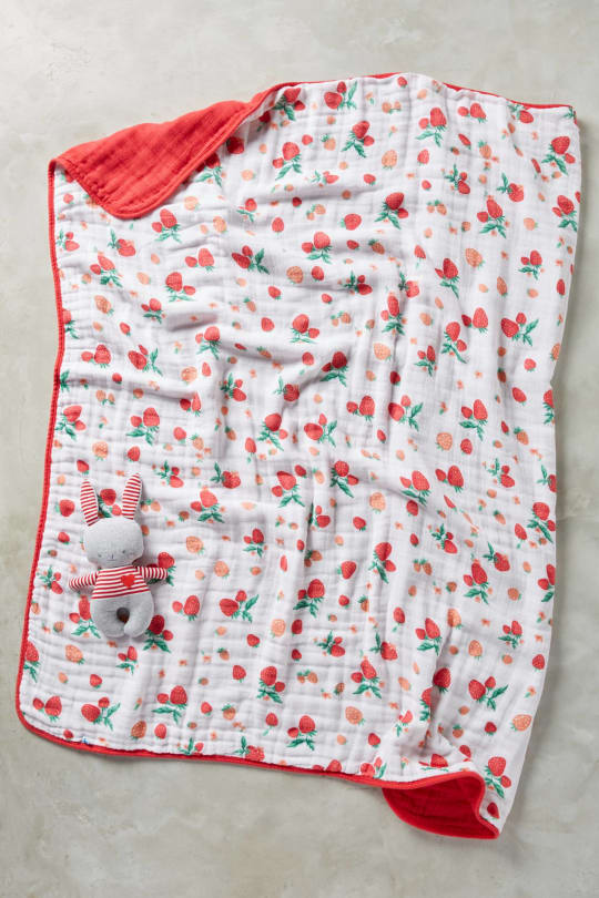 Little Unicorn Berry & Blossom Toddler Quilt and Playmate