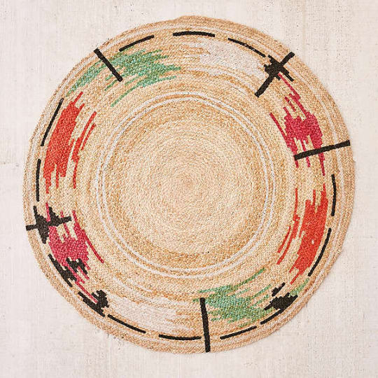 Thalia Basketwoven Jute Round Rug at Urban Outfitters