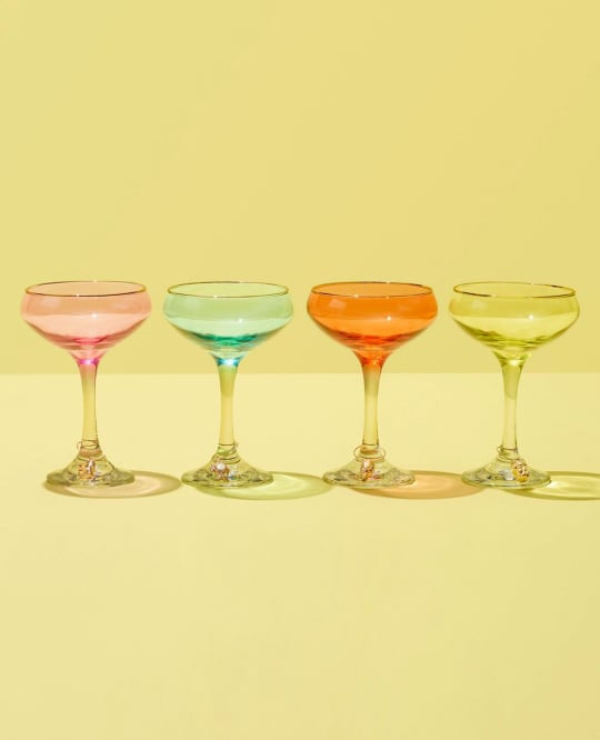 Lilly Pulitzer for Target Cocktail Glasses with Gold Rim
