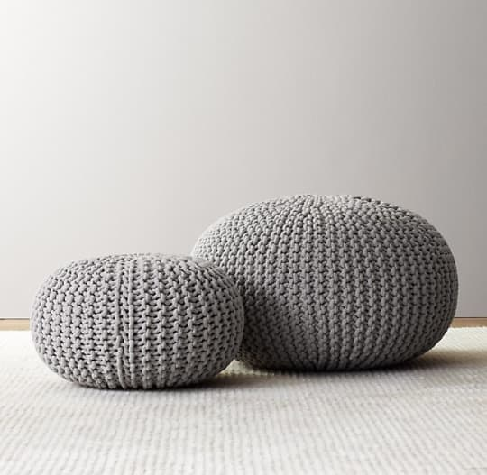 RH Baby & Child Knit Cotton Round Pouf