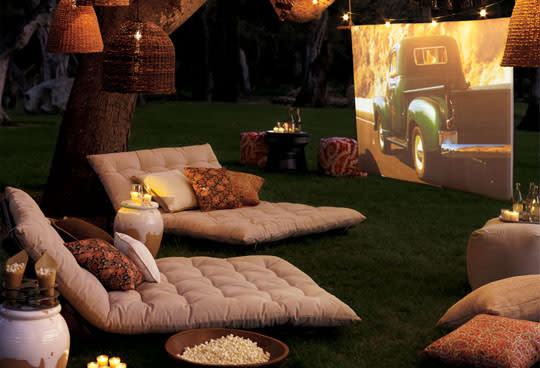 Summer is finally here and it's time to rally up friends, head outside, and  enjoy every last minute of it. What better way to relish a perfect warm ... - Summer Blockbuster: Building A Backyard Movie Theatre Apartment