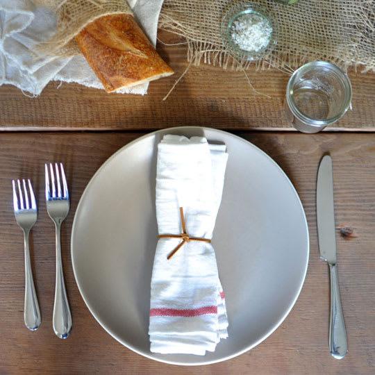 Cheap But Pretty Idea: Use IKEA Dish Towels As Napkins
