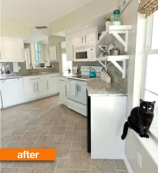 Kitchen Renovation Apartment Therapy: Before & After: Jenna's Big Kitchen Reno On A Budget