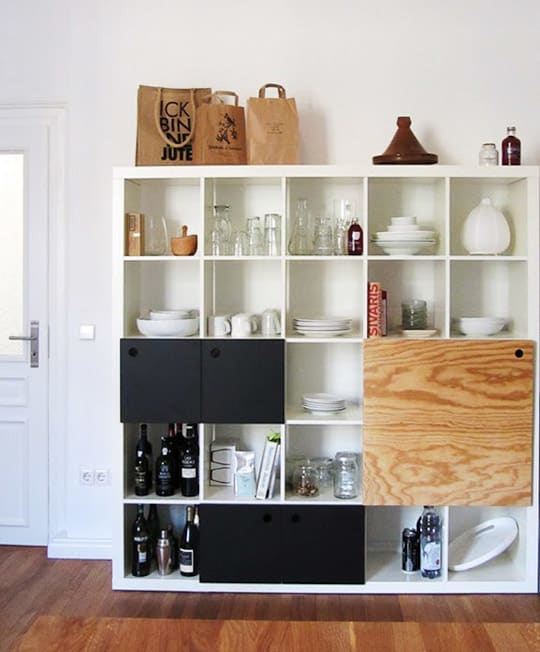 the ikea expedit bookcase may be one of the most popular affordable bookcases out there when you actually start looking for it you see it everywhere - Ikea Kitchen Storage