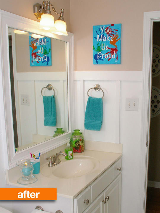 Bathroom Renovations Kingston Ontario: Before & After: Kids' Bathroom Gets Board & Batten