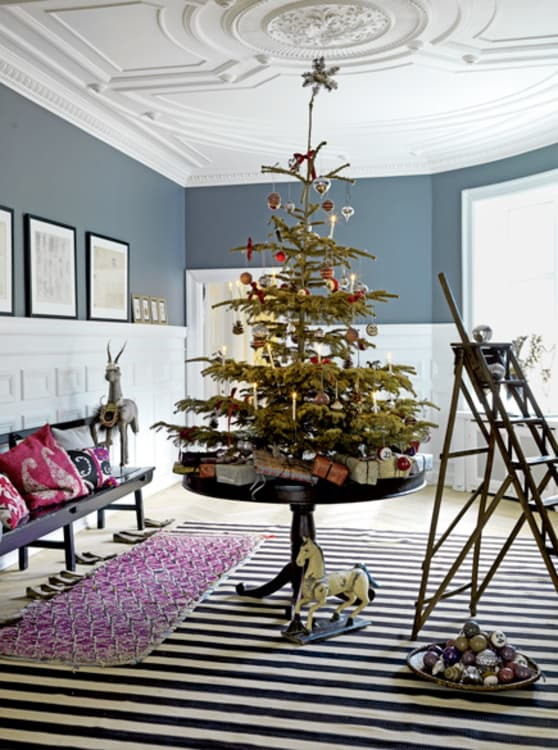 image credit elle decor - Apartment Christmas Decorating Ideas