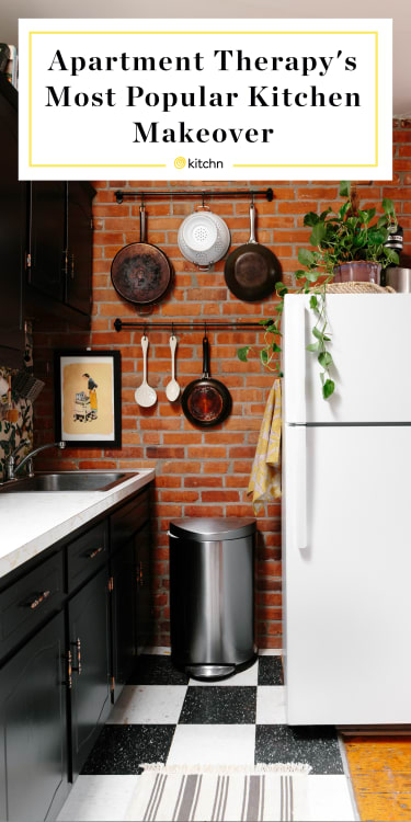 Apartment Therapy Popular Kitchen Rental Makeover Kitchn - Apartment-therapy-kitchen