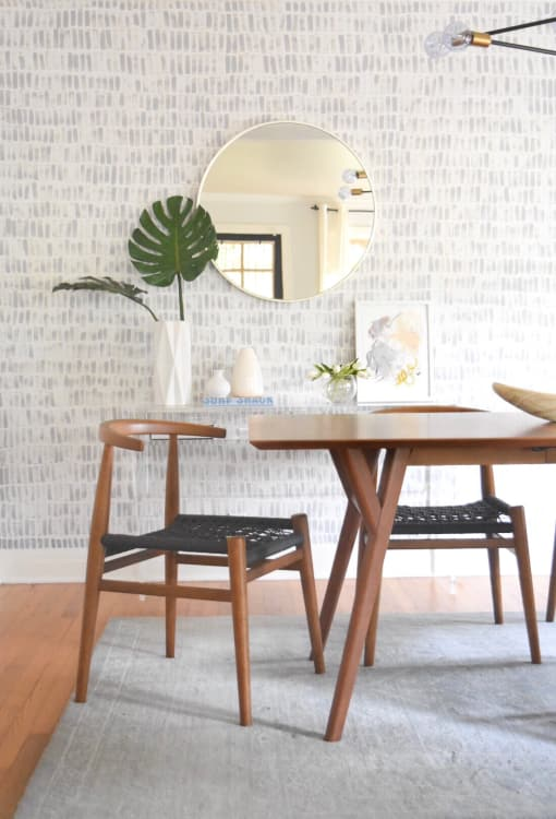 How To DIY Faux Wallpaper the Easy Way: Photo Tutorial | Apartment ...