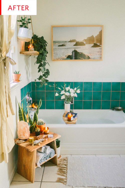 An Ingenious Fix for Ugly Rental Bathroom Tiles