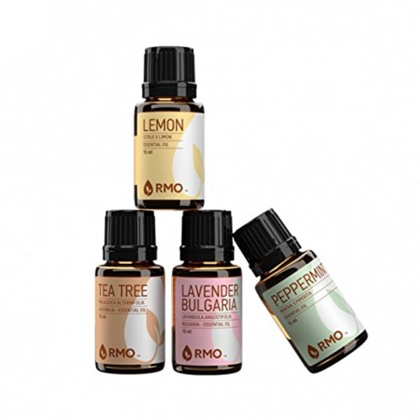 Rocky Mountain Essential Oils Kit  Ml With Lavender Bulgaria Lemon Peppermint   From Amazon