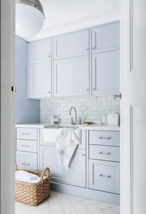 12 Smart Laundry Room for Vertical Spaces Storage & Free Printables - laundry,room,vertical,laundry room,floor 7