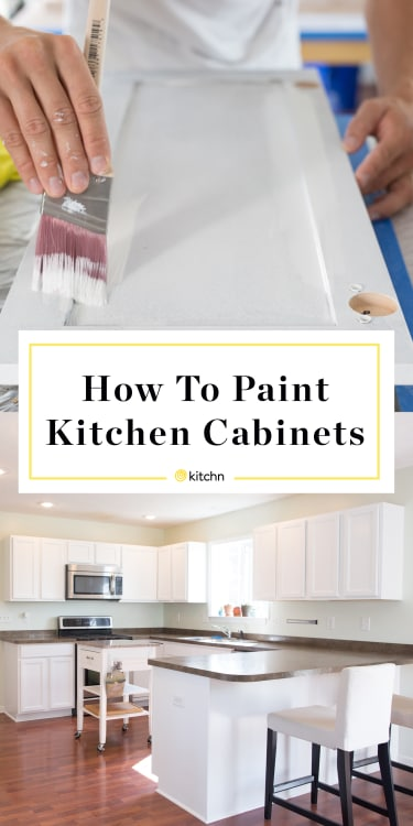 Wooden Kitchen Cabinets So That They Look Like Brand New White Ones Image Credit The Kitchn