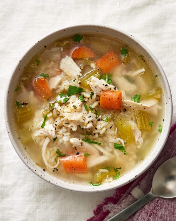 Easy Chicken And Rice Soup At Home Kitchn