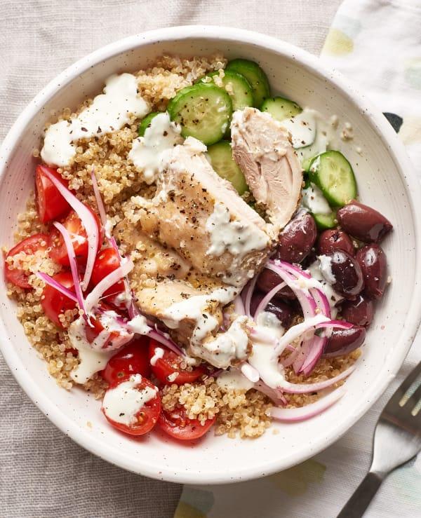 Recipe Greek Chicken Grain Bowls Kitchn
