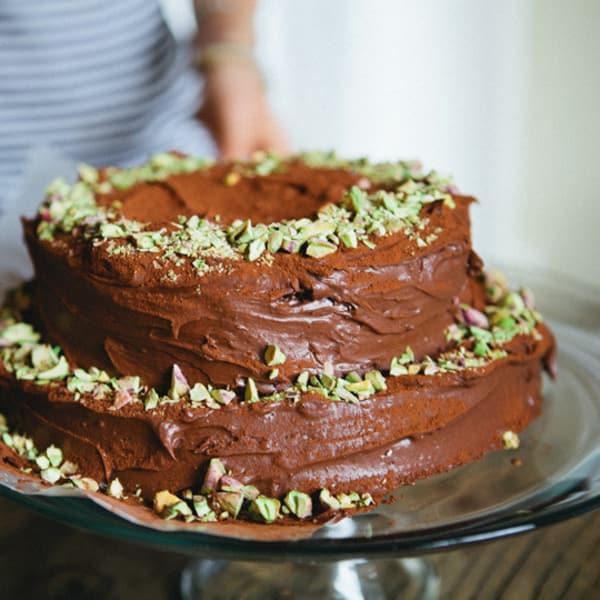 Birthday Cake Recipe Double Chocolate Sour Cream Cake Kitchn