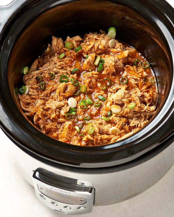 Easy Slow Cooker Bbq Chicken Recipe Kitchn