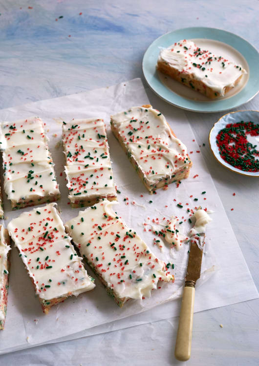christmas funfetti bar cookies kitchn