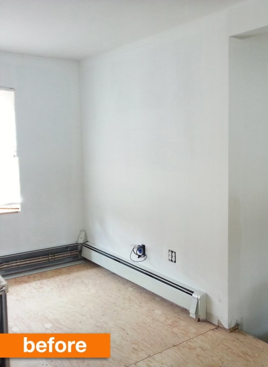 Before Amp After Vickiann S Diy Real Brick Wall Apartment Therapy