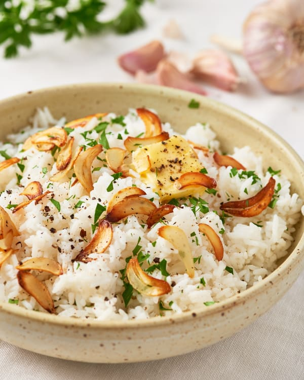 easy garlic butter rice recipe kitchn