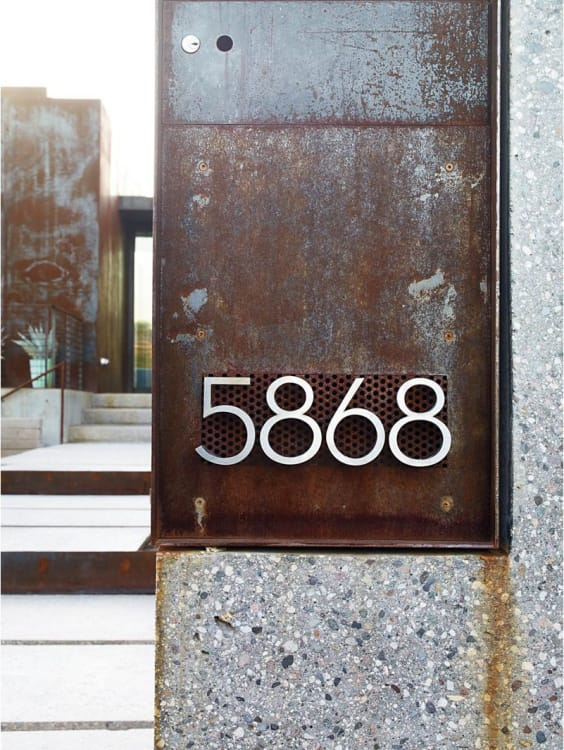 modern house numbers for every budget apartment therapy