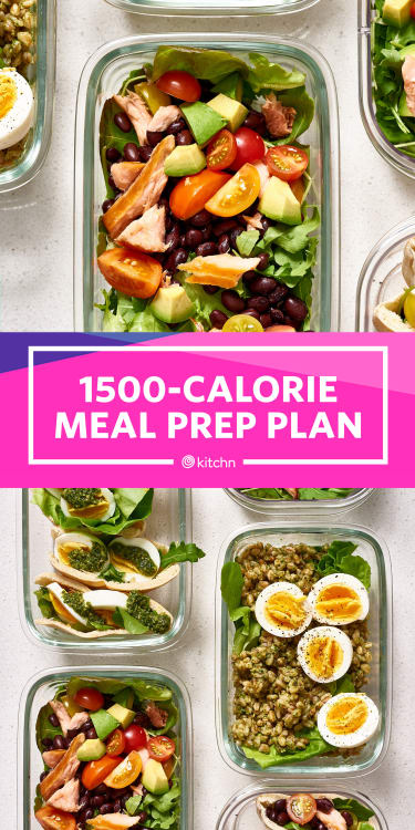 Meal Prep Plan For 1500 Calories Kitchn