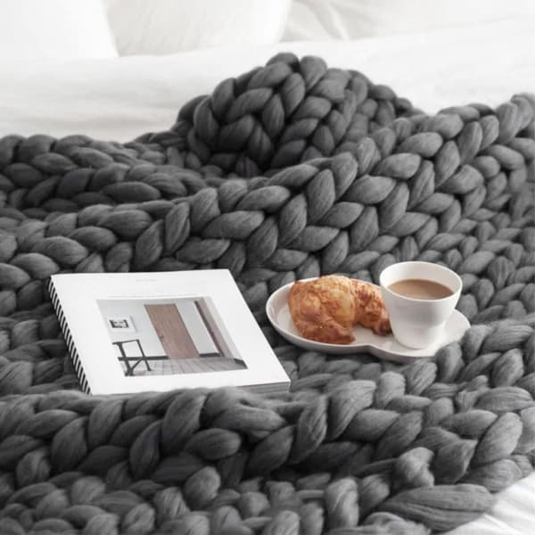 Where To Buy Chunky Knit Blanket Best Deals Apartment Therapy