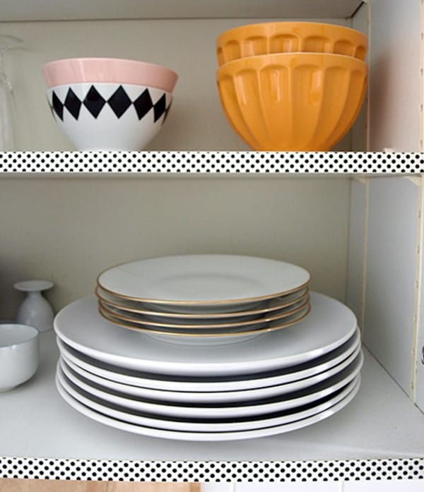 Easy Rentals: Easy Rental Kitchen Project: Washi Tape Your Cabinet
