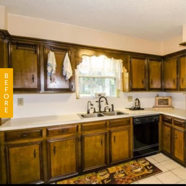 Kitchen Remodel On A Budget Before And After: Before & After: A Dark 1960s Kitchen Gets A Bright $185