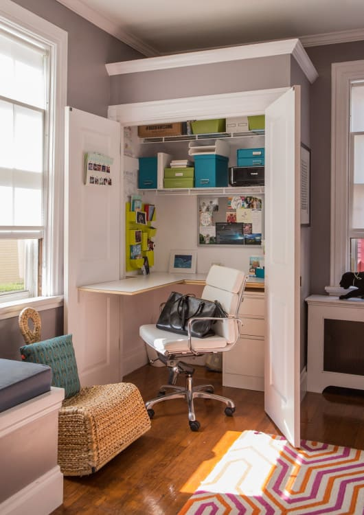 Charmant Out Of Sight Style: Inspiration And Resources For A Compact Closet Office |  Apartment Therapy